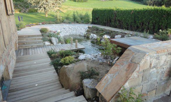 Bassin cascade fontaine