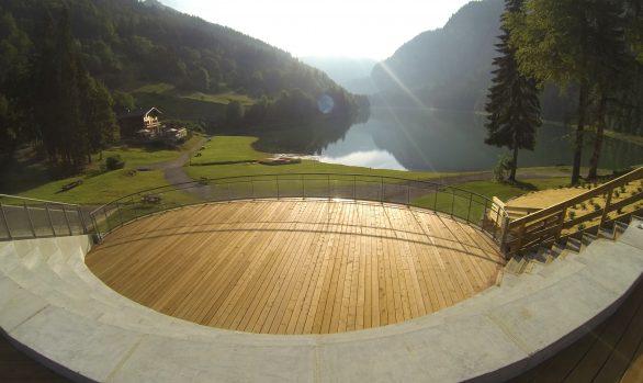 Plancher pin traité terrasse