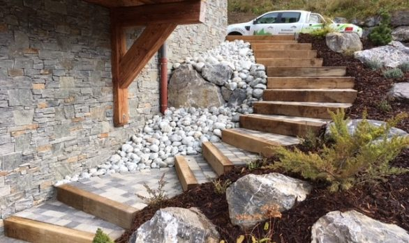 Aménagement escalier paysager